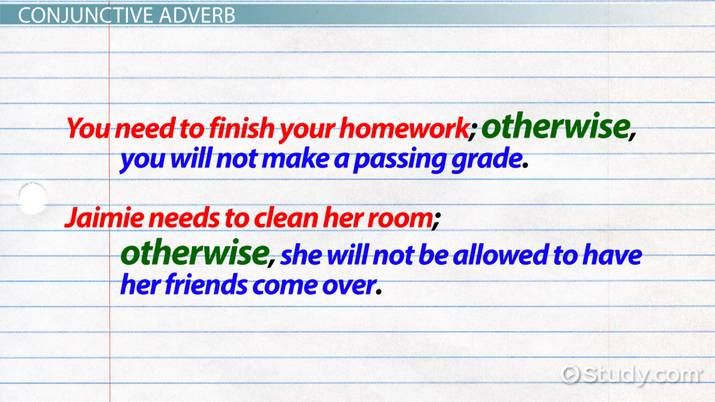 How To Use Otherwise In A Sentence Video Lesson