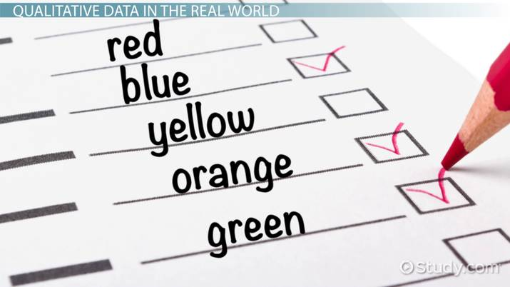 What is Qualitative Data? - Definition & Examples - Video