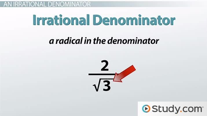 How To Rationalize The Denominator With A Radical Expression Video