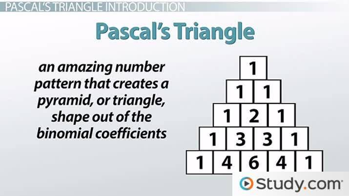 An introduction to the theory of pascals triangle
