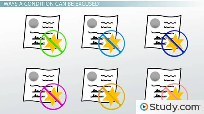 How Contract Conditions Are Excused Video Lesson Transcript