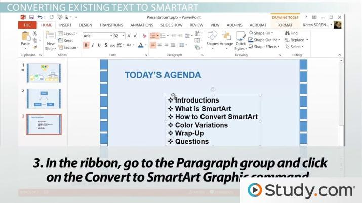 How to Convert Text to SmartArt in PowerPoint - Video