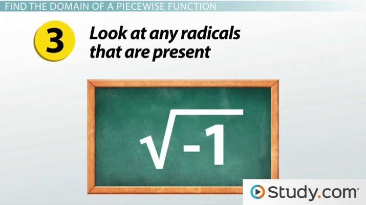 How to Find the Domain of Piecewise Functions - Video
