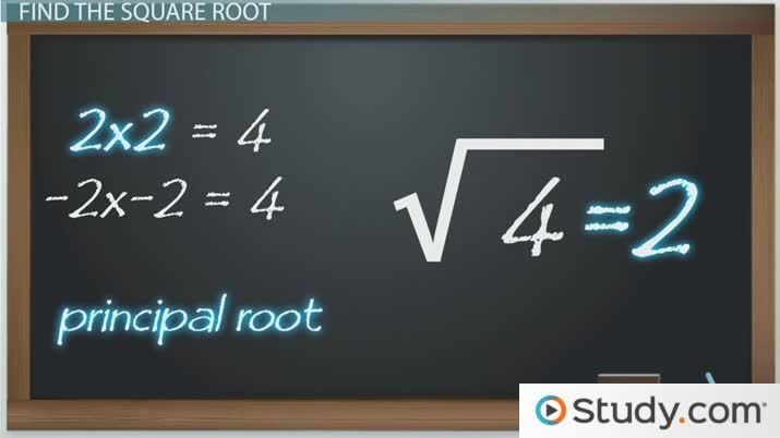 How To Find The Square Root Of A Number Video Lesson