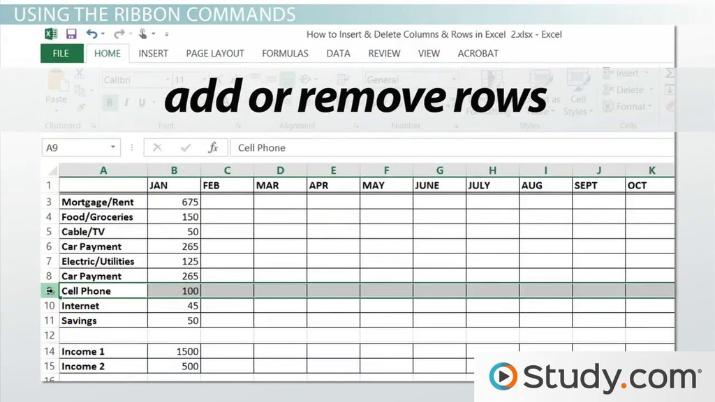 picture regarding Printable Columns and Rows called How towards Increase Delete Columns Rows inside of Excel - Online video