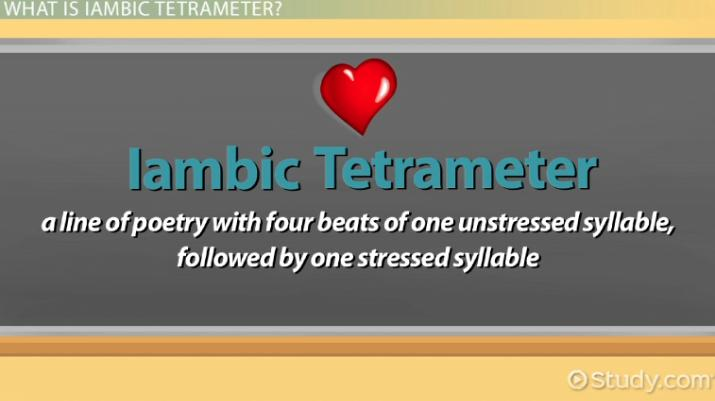 iambic tetrameter  definition  u0026 examples
