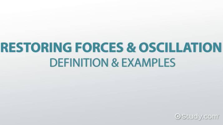 Restoring Forces & Oscillation: Definition & Examples - Video & Lesson  Transcript   Study.com