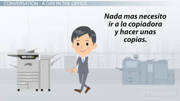Office Buildings Vocabulary In Spanish Video Lesson Transcript