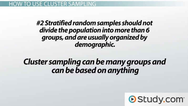 Cluster Random Samples: Definition, Selection & Examples