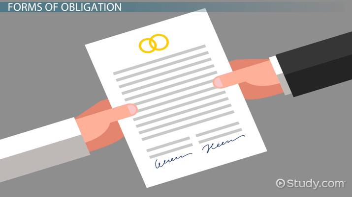 Obligation Legal Definition Types Examples Video
