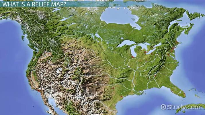 Relief Map Definition History Use Video Lesson Transcript