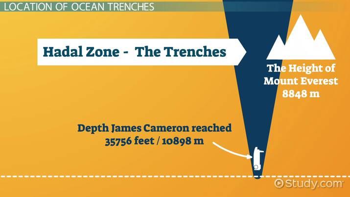 Deep Ocean Trench Definition Examples Video Lesson Transcript Study Com