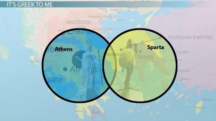 similarities and differences between athens and sparta