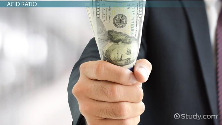 Liquidity Ratio: Definition, Calculation & Analysis - Video & Lesson