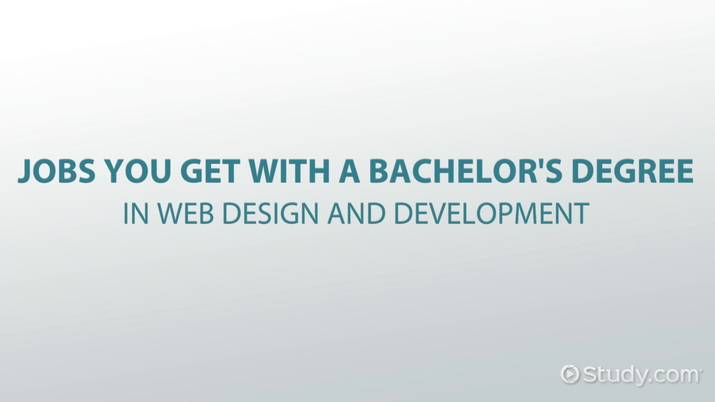 Stupendous Jobs You Get With A Bachelors Degree In Web Design And Beutiful Home Inspiration Cosmmahrainfo