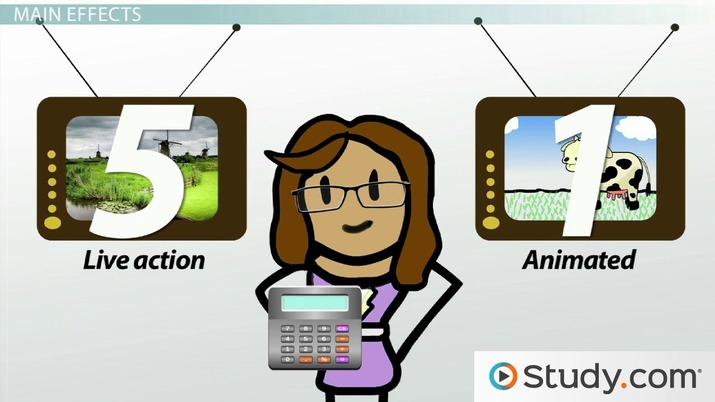 Main Effects in Factorial Design - Video & Lesson Transcript
