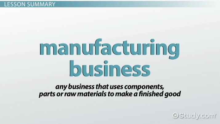 What Is a Manufacturing Business? - Definition & Examples