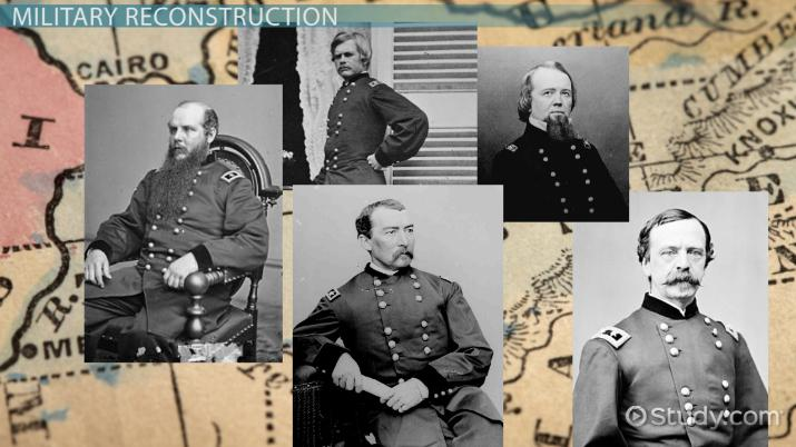 Military Reconstruction Act: History & Summary - Video & Lesson ...