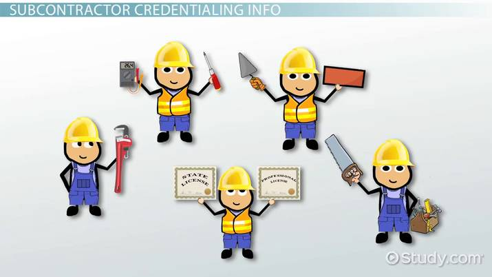 Subcontractor licensing credentialing and certification for How to find subcontractors