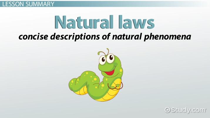 Natural Laws Of Science Definition Examples Video Lesson
