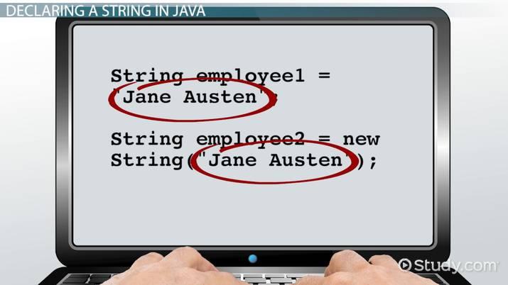 String Declaration in Java - Video & Lesson Transcript | Study com
