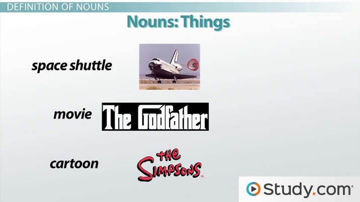 What Are Nouns? - Definition, Types & Examples - Video & Lesson