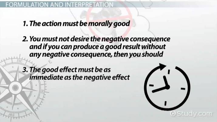 The Doctrine of Double Effect: Interpretations, Application