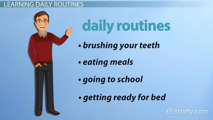 ESL Daily Routines Activities Games Video Lesson