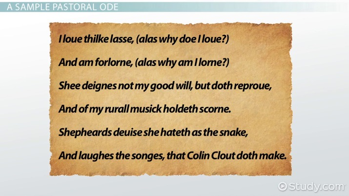Pastoral Ode Definition Characteristics