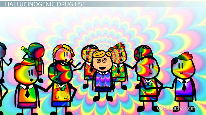 Patterns of Hallucinogenic Drug Abuse - Video & Lesson