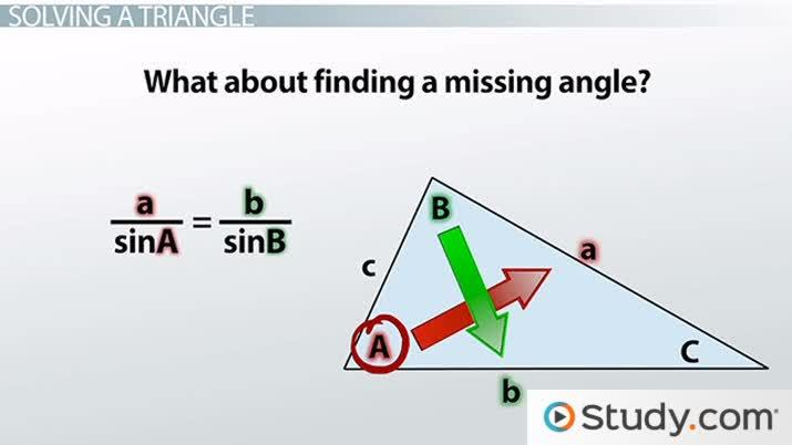 Using The Law Of Sines To Solve A Triangle Video Lesson