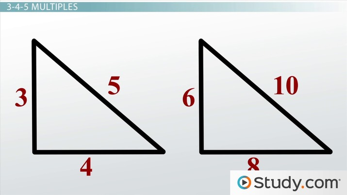 Properties Of 3 4 5 Triangles Definition And Uses Video