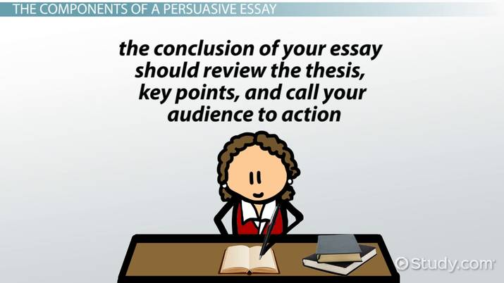 components of writing a persuasive essay  video  lesson transcript  components of writing a persuasive essay
