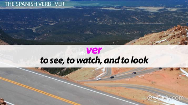 Ver Conjugation  Present Tense
