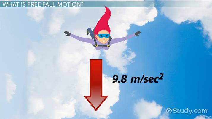 Overview Of Graphs Of Free Fall Motion Video Amp Lesson