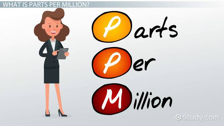 Parts Per Million: Definition, Calculation & Example - Video