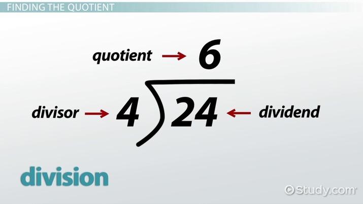 Quotient: Definition & Meaning - Video & Lesson Transcript