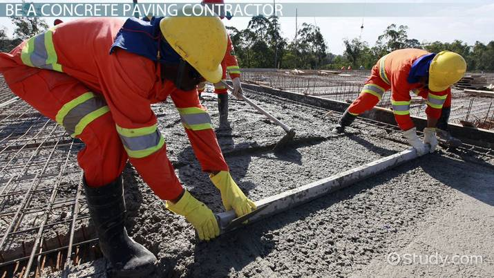 How To Become A Concrete Paving Contractor