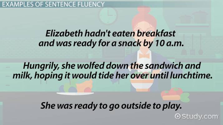 what is sentence fluency  - definition  u0026 examples