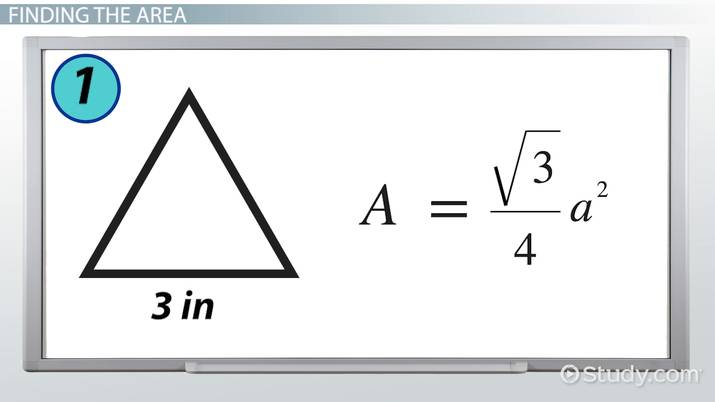 How to Find the Area of an Equilateral Triangle - Video & Lesson ...