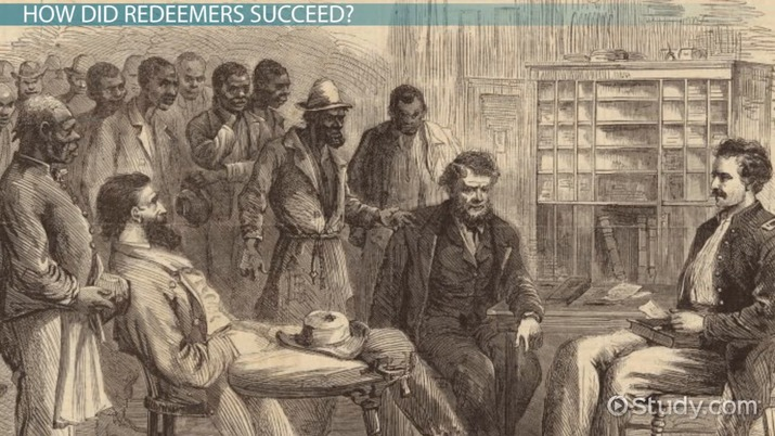 Redeemers In Reconstruction History Explanation Video Lesson