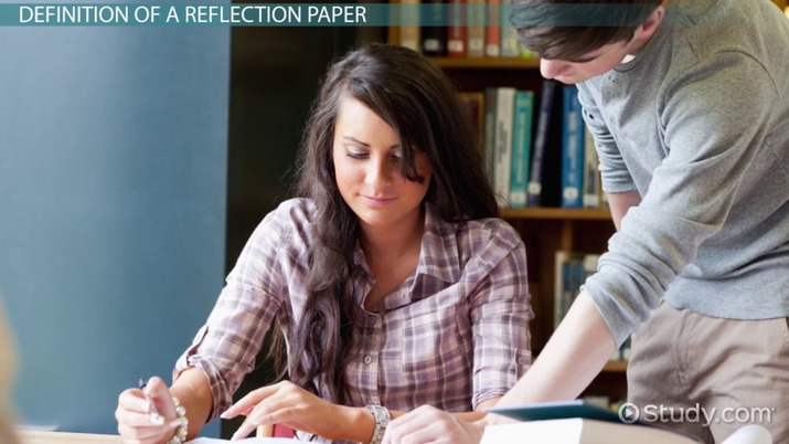 what is a reflection paper example