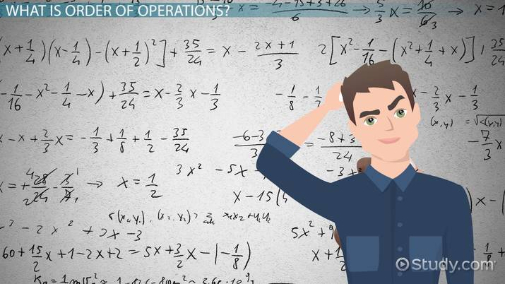 Order Of Operations: Definition, Problems & Examples - Video