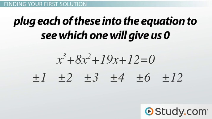 Solving Cubic Equations With Integers Video Amp Lesson