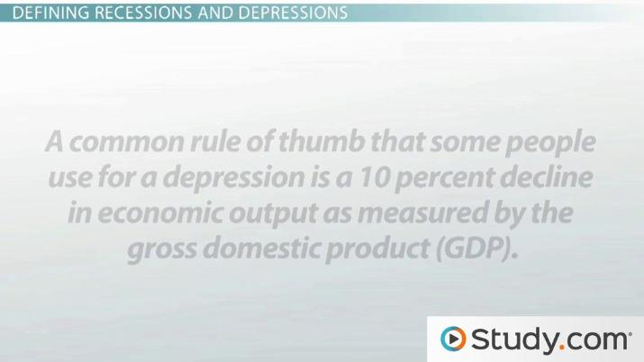 Recession vs. Depression: Definitions and Differentiation - Video ...