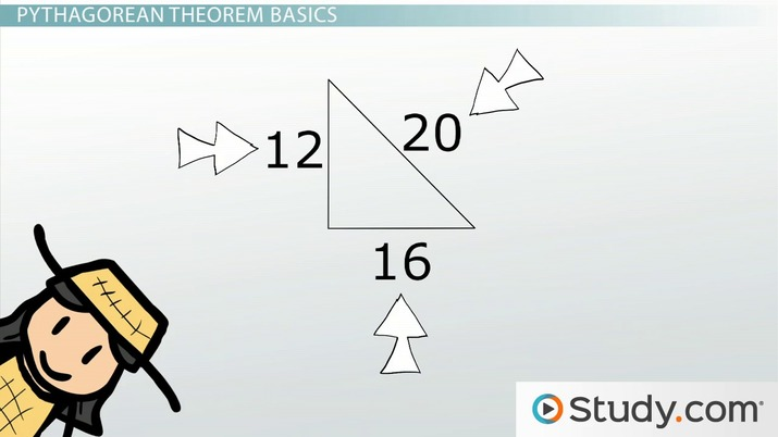 The Pythagorean Theorem Practice And Application Video Lesson Transcript Study Com