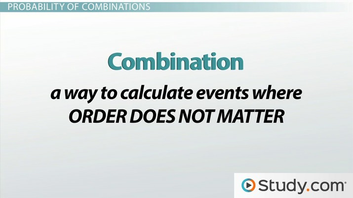 How to Calculate the Probability of Combinations - Video