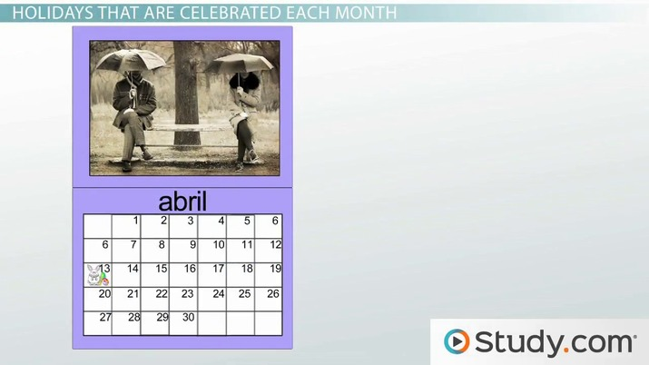 Calendar Days Of The Week In Spanish.What Are The Months In Spanish Video Lesson Transcript Study Com