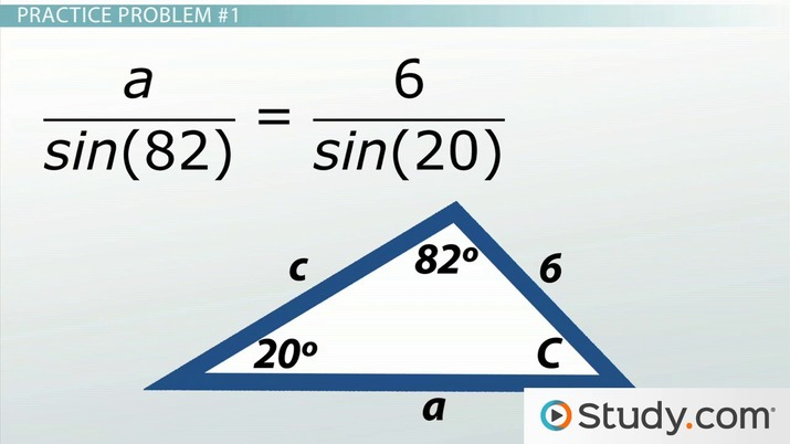 Law of Sines: Definition and Application - Video & Lesson Transcript ...