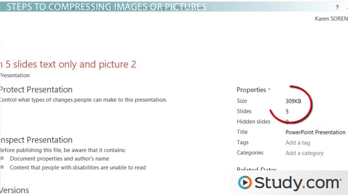 How to Compress Your PowerPoint Presentation - Video
